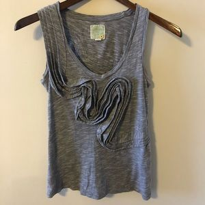 Anthropologie By Little Yellow Button Ruffle Tank